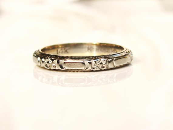 vintage keepsake wedding ring 14k white by