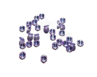 5 or 10-Pack of Lavender Stardust Crystals for Floating Lockets-2.8mm-Gift Idea