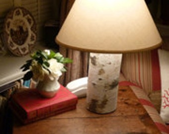 "Birch Table Lamp 20"" Tall - with Lamp Shade"