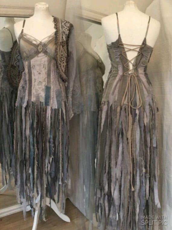 Boho Wedding Dress Ragged Treasure Bridal Gown Ocean