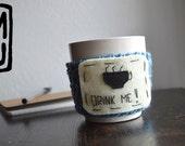 Personalized gift/ Mug Warmer / Coffee Cozy Sleeve /Mug cozy / Handmade/ Wool and felt/ Crochet/ Custom gift