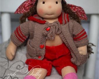 Waldorf doll Nantasha  with clothes - handmade waldorf doll (41 cm long) for girls of any age