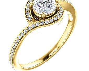 diamond halo engagement rings rose gold engagement rings diamond halo halo setting - Gold Wedding Rings For Her
