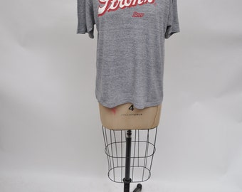 vintage tshirt STROHS BEER t-shirt 1980s retro 80s labeled large oversized boyfriend fit triblend