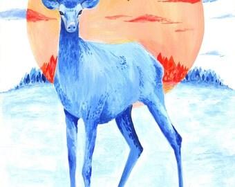 Winter Stag | Digital Print