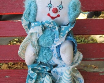 Vintage 1981 KATY BEK KREATIONS Clown/Plush Doll
