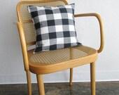 Black and White Check Pillow. Toss Pillow. Throw Pillow. Modern Geometric. Simple Pillow. Unisex Pillow. Cabin Pillow. Rustic Pillow.
