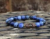 Yoga Bracelet Sodalite Bracelet Wrist Mala Buddhist Bracelet Intention Bracelet Healing Bracelet Meditation Bracelet Energy Bracelet