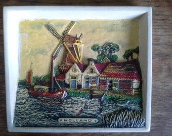 Holland: Dutch three dimensional plaster wall plaque