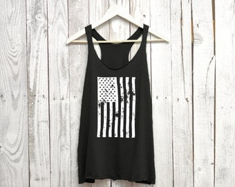 American Flag Tank Top. America Shirt. 'Merica Tank Top. American Women's Tank Top. Racerback Tank. American Tank. 4th of July