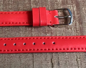 Coral Patent Leather Watch Strap