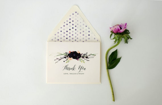 nellie personalized thank you cards +  lined envelopes (sets of 10) // lola louie paperie