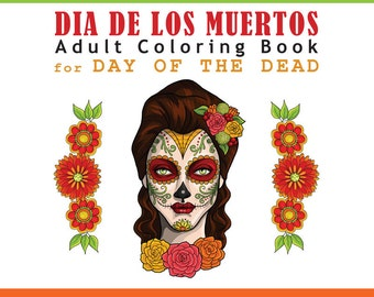 Day of the Dead Coloring book printable