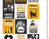 Hocus Pocus Quote Full Box Planner Stickers for Erin Condren Planner, Filofax, Plum Paper