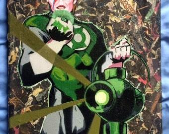 David Bowie - Green Lantern/Star Man - DC Comics - Spray Paint on Canvas POP Art!