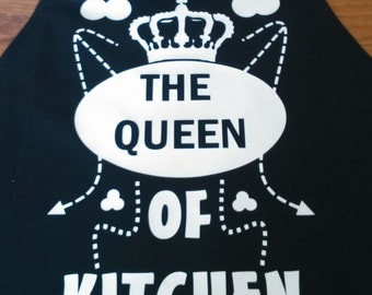 Funny Apron * Queen of Kitchen * - Nice Cool Cook Idea