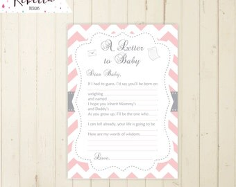 letter to baby game mad lib baby shower game baby guesses game pink grey printable game guessing game make your best guess madlib game 105
