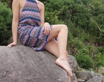 Festival Crochet Halter neck Slip Dress