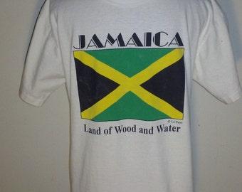 Classic Jamaica T-Shirt Jamaican Flag Medium