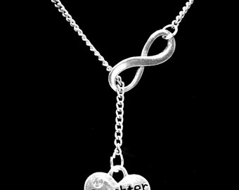 Infinity Daughter In Law Gift Y Lariat Necklace