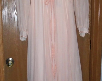 Vintage Gunne Sax by Jessica  Mcclintock  1970's Peach Color Victorian Look Prairie Look Lace Dress M