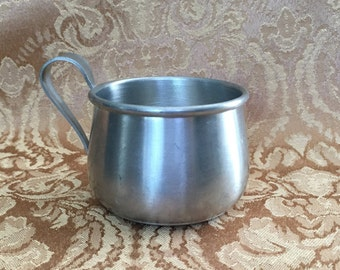 International Pewter Baby Cup with Handle, 277, 1940s, 1950s, Classic Pewter Baby Cup, Baby Cup