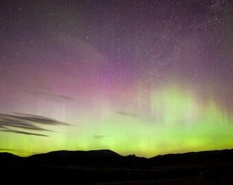 Northern Lights above Sleeping Giant