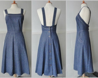 70s Vintage Dress // Josha Model // Blue Denim // Size 38 // 100% Cotton // Made in Denmark