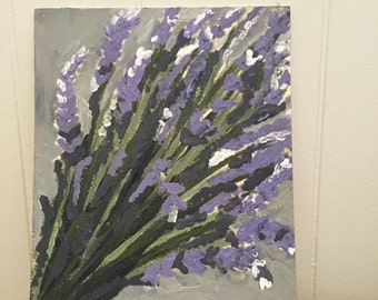 Acrylic Painting of Lavender Bundle