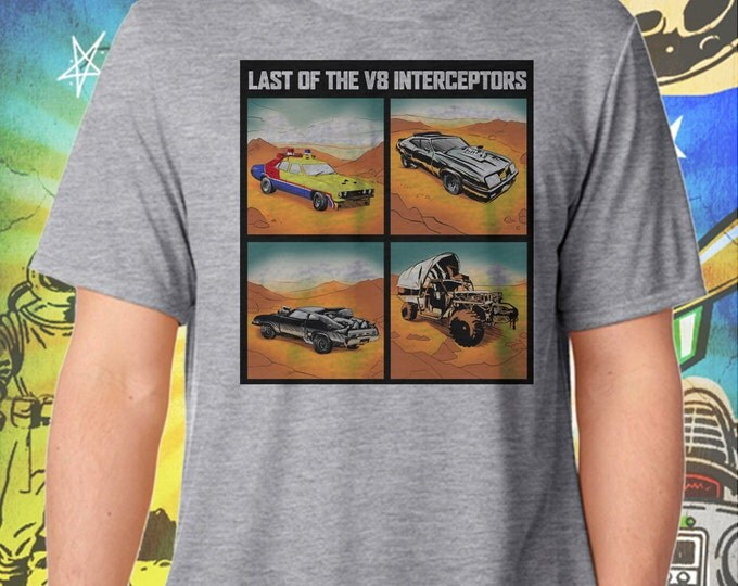 Mad Max Car Collection Last of the V8 Interceptors Summer Gray T-Shirt
