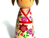 CUSTOM LISTING:  1 Custom Peg Doll for Brandy W.