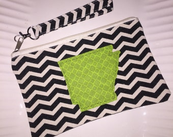 Zippered clutch