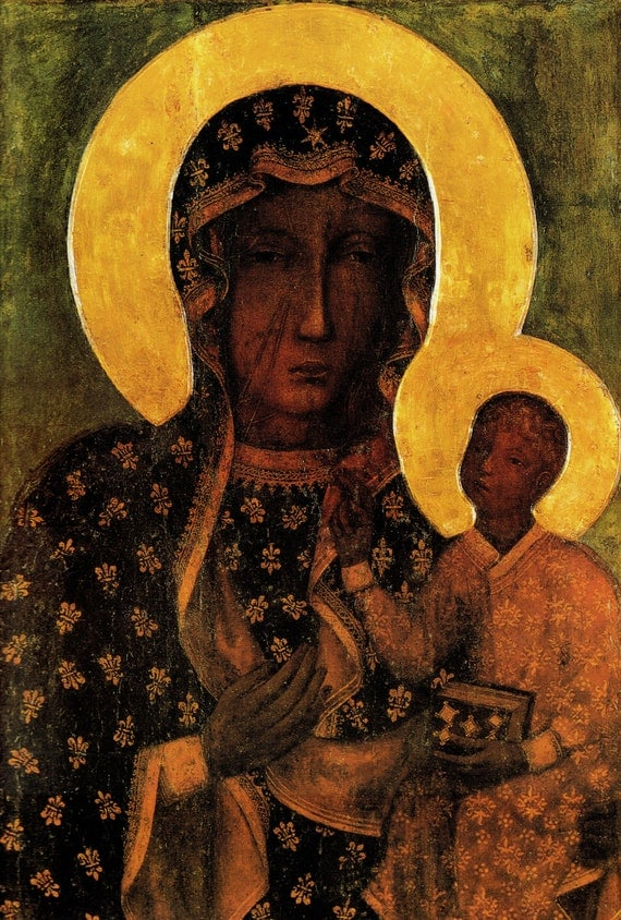 Image result for our lady of czestochowa