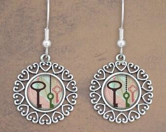 Vintage Keys Earrings - 57629