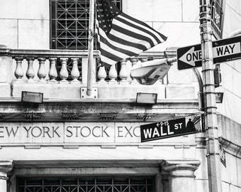 """Finance Art, Wall Street Art, """"Exchange Entrance"""""""