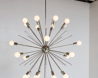 Tribute Chandelier - With Lucite Finials