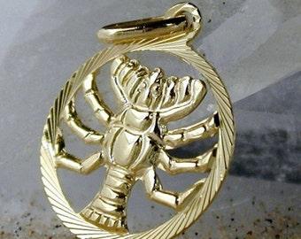 Zodiac pendant, cancer, 9K GOLD