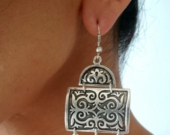 OTTOMAN EARRINGS / / silver plated earrings / / Turkish jewelry
