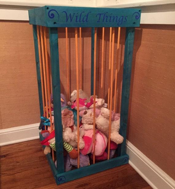 stuffed animal storage stuffed animal cage by travelingelephants. Black Bedroom Furniture Sets. Home Design Ideas