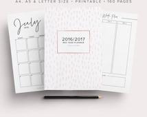2016-2017 Panner, Mid Year Planner, Academic Planner 2016-2017, 2016/ 2017 Planner Kit, Printable, Agenda 2016-2017, Student Planner 2016