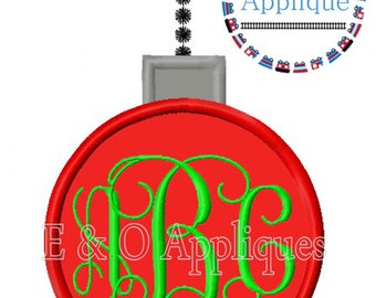 Ornament Applique Design - Ornament Monogram Embroidery Design - Christmas Applique Design - Christmas Embroidery Design - Ornament Monogram