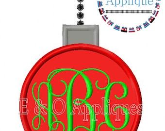 Ornament Applique Design - Ornament Monogram Embroidery Design - Christmas Applique Design - Christmas Embroidery Design - Ornament Monogram