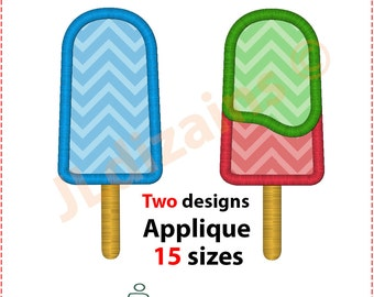 Popsicle Applique Design. Popsicle embroidery design. Ice pop embroidery. Popsicle applique design. Ice cream. Machine embroidery design