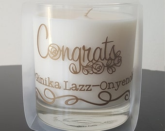 Congrats Message ~ (Personalized) Special Message Candles