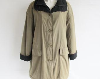 Vintage • Women's • Coat • Vintage Coat • Vintage Shimmery Coat • Khaki Coat • Women's Jacket • Vintage Jacket • Jacket • Vintage Jacket