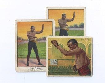 BALTIMORE'S JOE GANS World Champion Lightweight Hassan & Mecca Cigarettes Boxing Cards