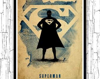 Superman Justice League Minimalist Poster