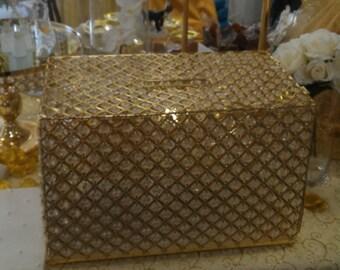 Gold Bling Crystal Money/Gift Box