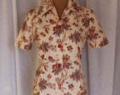 New Handmade Vintage 1940s-Style Blouse / WWII / Retro / Vintage / Size M-L