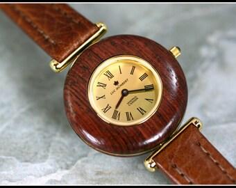 Wooden watch, Wood watch, Womens wood watch, Brown wood watch, Wooden watch women, Watch leather, Swiss quartz,5th anniversary gift handmade